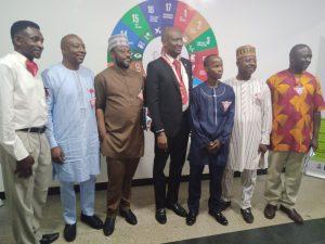 DG with leaders of Y's Men & YMCA